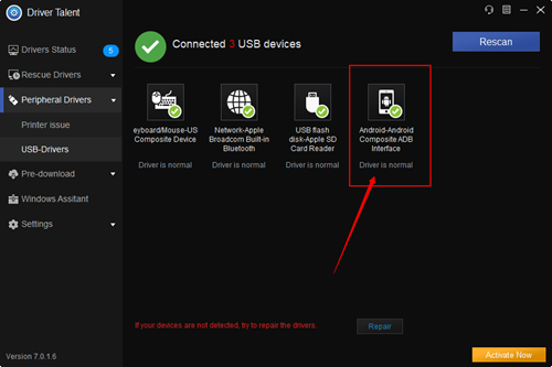 Solutions to Android Cannot Connect to ApowerMirror via USB